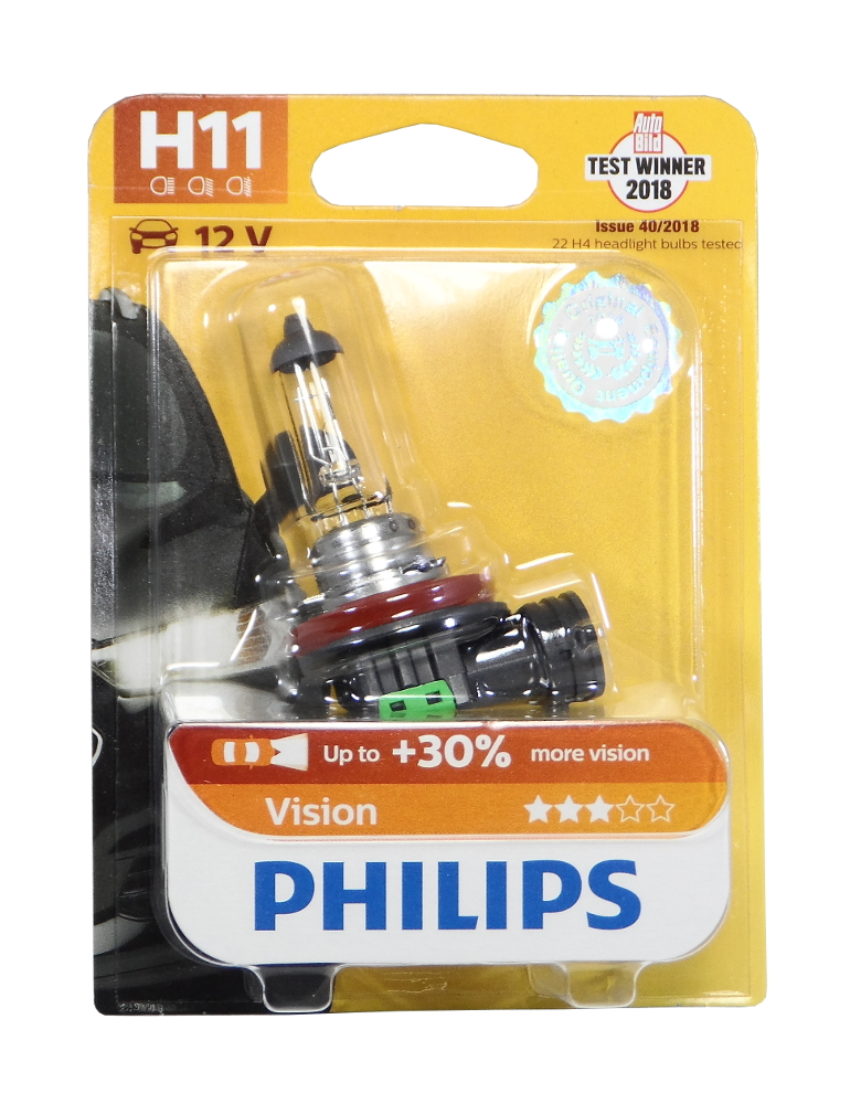 LAMPPU H11 12V 55W VISION BL