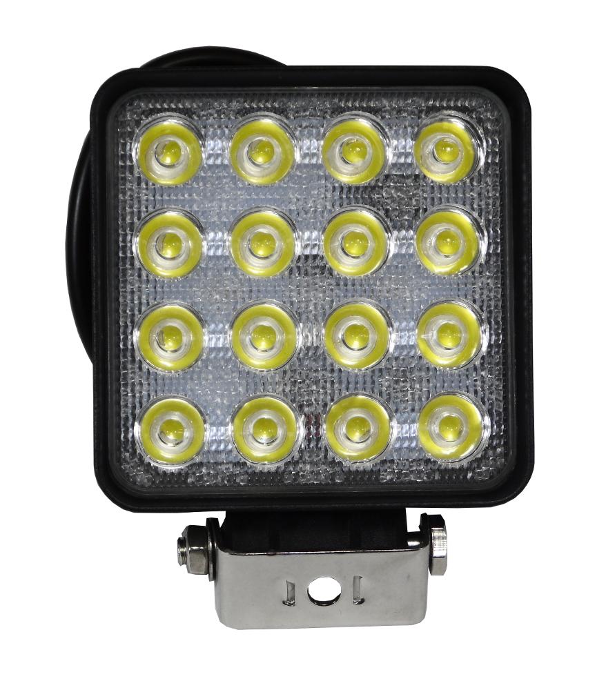 LED-TYÖVALO 16-LED 3000LM 48W 108x108(128)x68mm